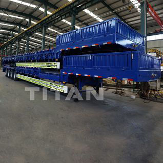 heavy duty semi low bed trailer for sale