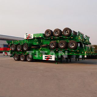 3 axle 40 foot skeletal trailer