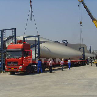 Extendable Trailer for Windmill Turbine Blade