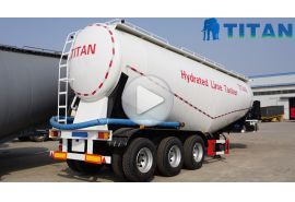 3 axle cement tanker trailer