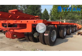 3 line 6 axles Lowbed Trailer with 2 line 4 axles dolly