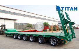6 axle low loader trailer