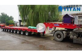9 axle heavy hauler trailer